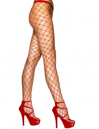 Collants de malha vermelhos adulto