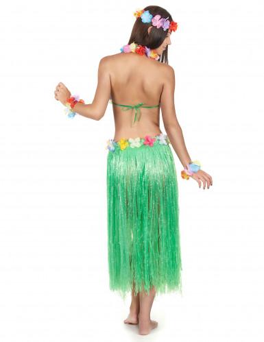 Conjunto de havaiana verde adulto-2