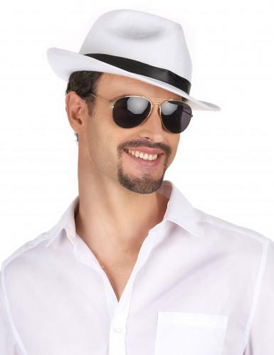 Chapéu de gangster branco adulto-1