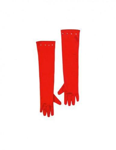 Luvas compridas vermelhas criança