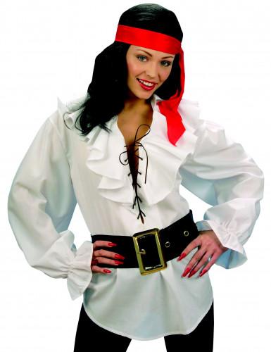 Camisa branca pirata mulher