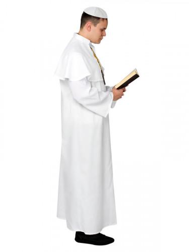Disfarce de Papa branco para homem-1