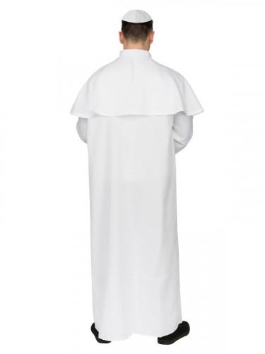 Disfarce de Papa branco para homem-2