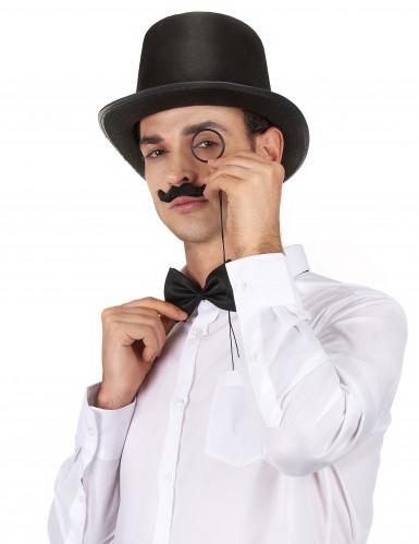 Chapéu alto preto rétro para adulto-1