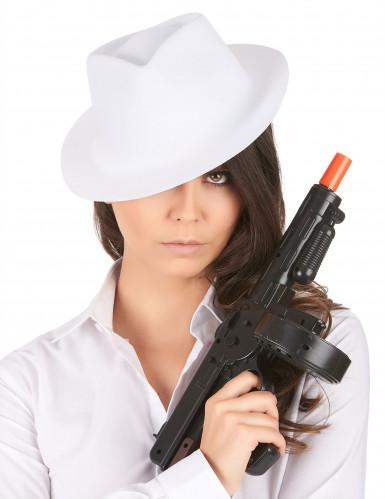 Chapéu branco de gangster para adulto-1