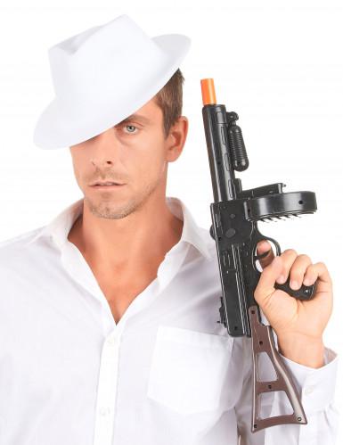 Chapéu branco de gangster para adulto-2