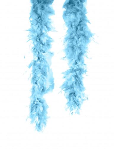 Lenço de plumas azuis turqueza para adulto