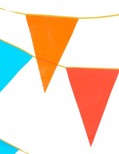 Grinalda de bandeirinhas gigantes de várias cores com 10 metros-1