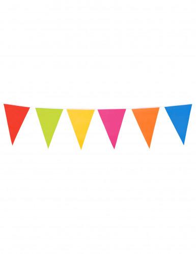 Grinalda de bandeirinhas gigantes de várias cores com 10 metros-2