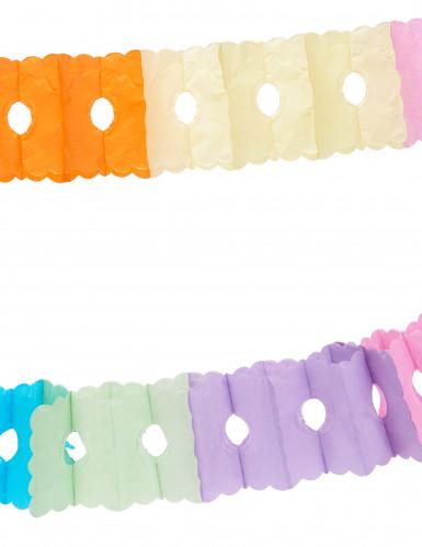 Grinalda em papel multicores 6 metros-1