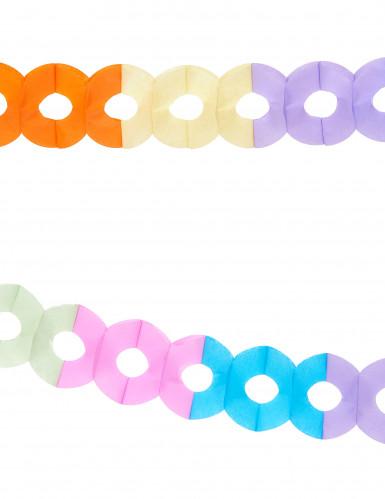 Grinalda em papel de várias cores com 2,5metros-1