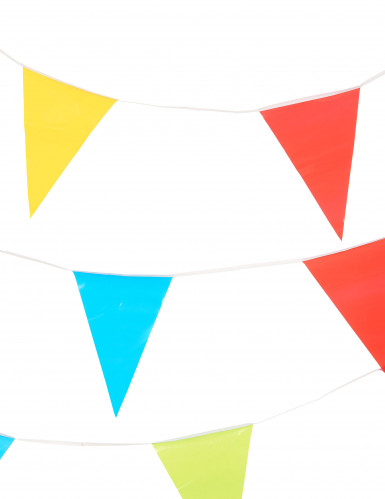 Grinalda de bandeirinhas de várias cores com 10 metros-1