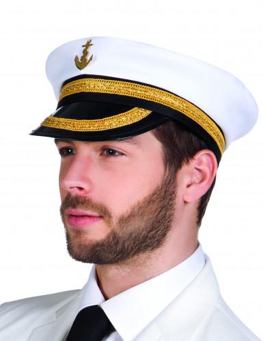 Chapéu de capitão do mar para adulto
