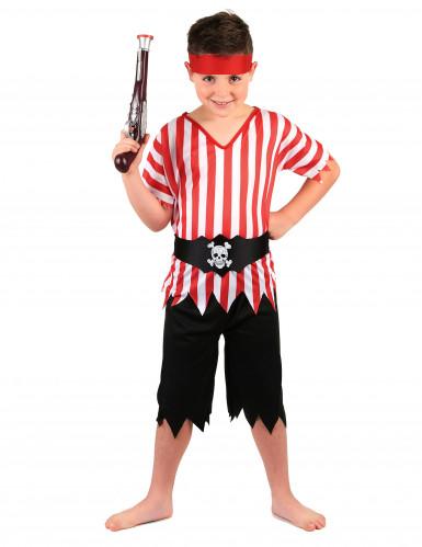 Disfarce pirata com túnica menino
