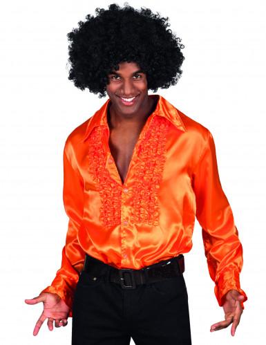 Camisa Disco cor de laranja para homem