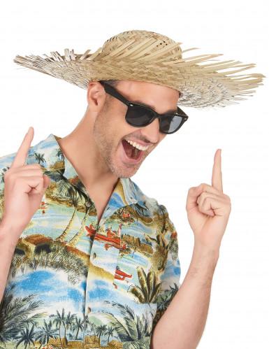 Chapéu de palha Havai para adulto-1