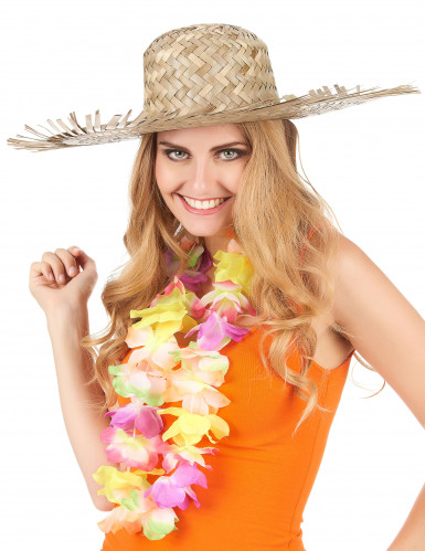 Chapéu de palha Havai para adulto-2