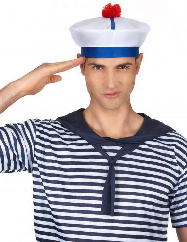 Chapéu marinheiro com pompom para adulto-1
