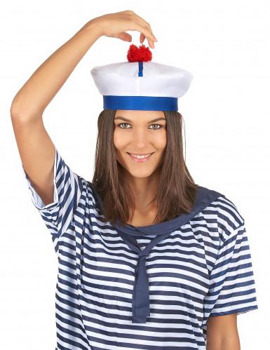 Chapéu marinheiro com pompom para adulto-2