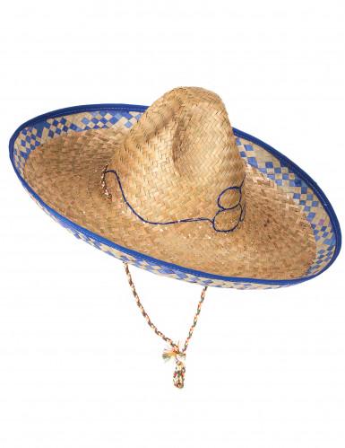 Chapéu de palha mexicano para adulto-1
