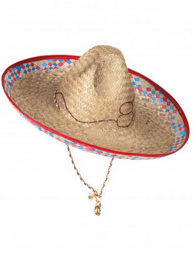 Chapéu de palha mexicano para adulto cor aleatória-2