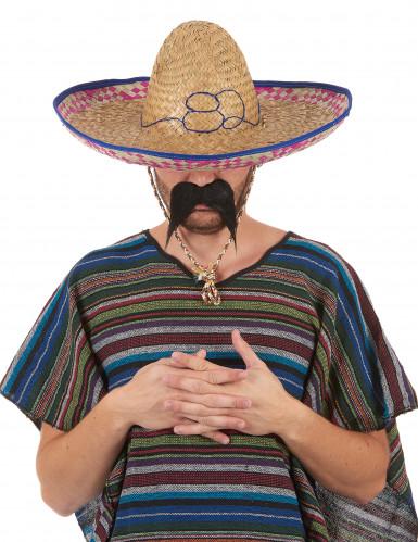 Chapéu de palha mexicano para adulto cor aleatória-5