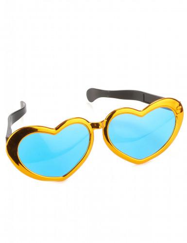 Óculos gigantes em forma de coração