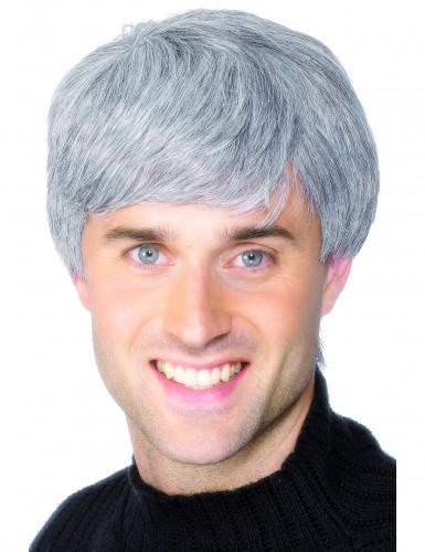 Peruca moderna grisalha para homem