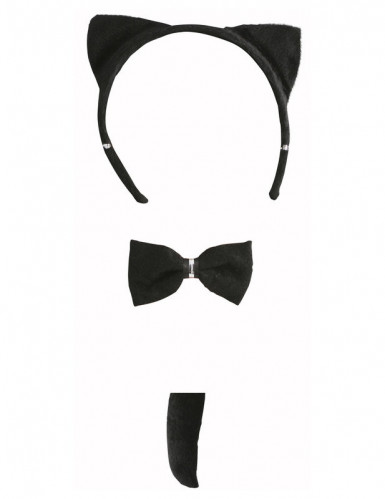 Conjunto de gato preto para adulto-1