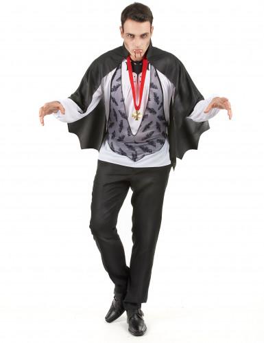Disfarce de homem Drácula para Halloween