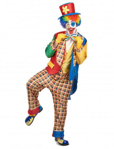 Disfarce palhaço de circo homem