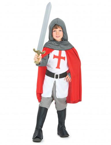 Disfarce de cavaleiro de cruzadas para rapaz