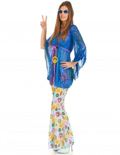 Disfarce flower power hippie para mulher-2