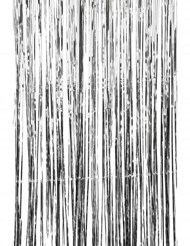 Cortina cintilante prateado-1