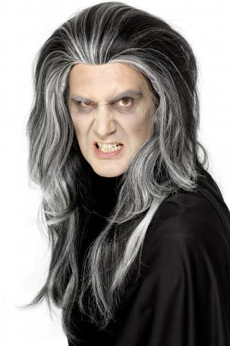 Peruca de Halloween de vampiro para adulto