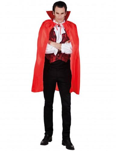Capa de vampiro vermelho homem Halloween