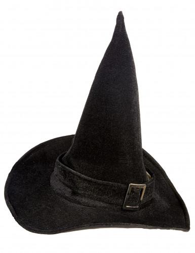 Chapéu de Halloween de bruxa em veludo-1