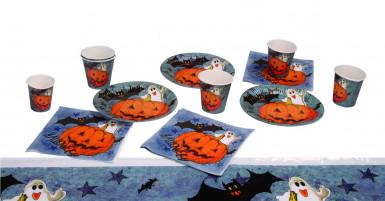 Conjunto de mesa abóbora halloween