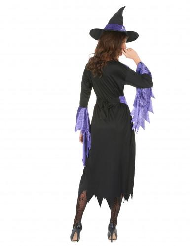 Disfarce de bruxa com chapéu mulher Halloween-2