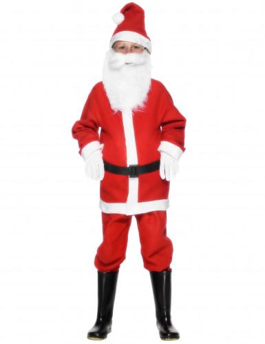 Disfarce de pai Natal para rapaz