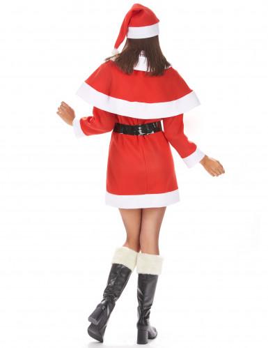 Disfarce Mãe Natal mulher vestido com capa-2