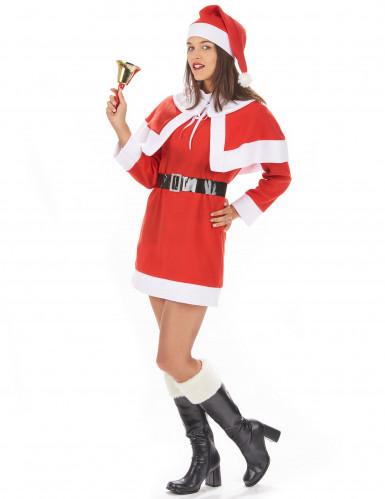 Disfarce Mãe Natal mulher vestido com capa-1