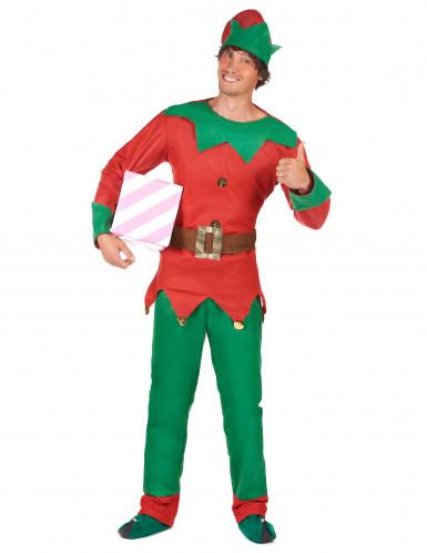 Disfarce de duende para homem Natal