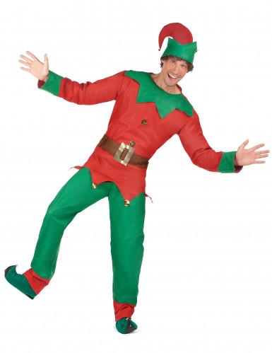 Disfarce de duende para homem Natal-1