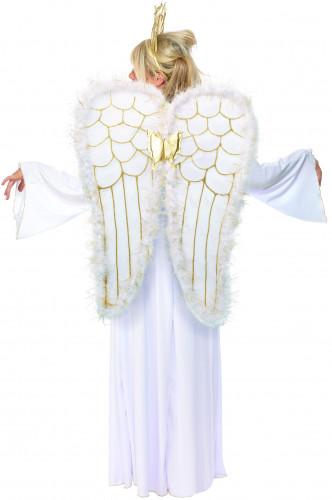 Disfarce de anjo de mulher-1