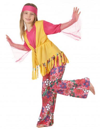 Disfarce hippie de várias cores para meninas-1