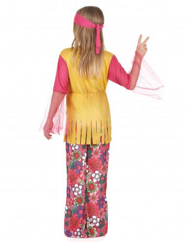Disfarce hippie de várias cores para meninas-2