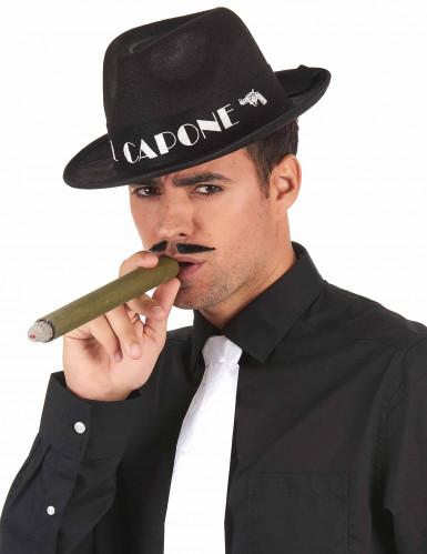 Chapéu borsalino Al Capone preto adulto-1