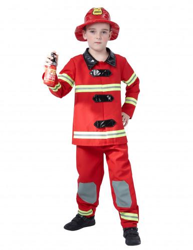 Disfarce de bombeiro para menino