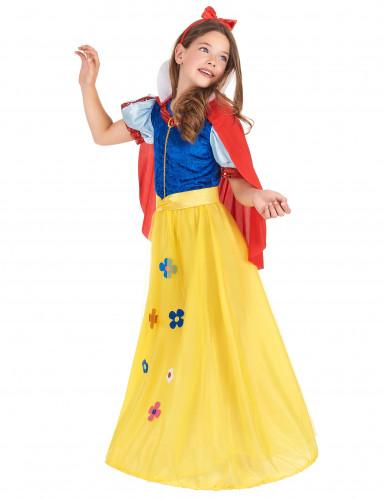 Disfarce de princesa com flor menina-1